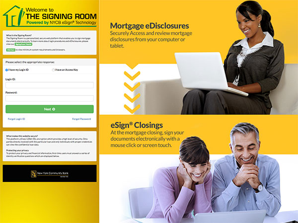 Web project for esignmortgage