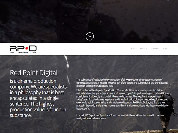 Web project for redpointdigital